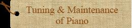 Tuning & Maintenance of Piano